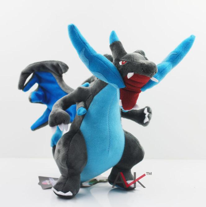"New 25cm CENTER Plush Doll Mega Charizard X Y pikachu plush toys Good Quality 10"" Stuffed Animals Available"