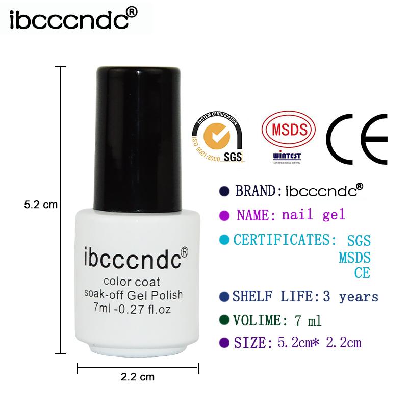 vendita all'ingrosso / UV LED Pure di gel nudo smalto unghie 7ml smalto semipermanente colorato moda gel unghie gel ordinario