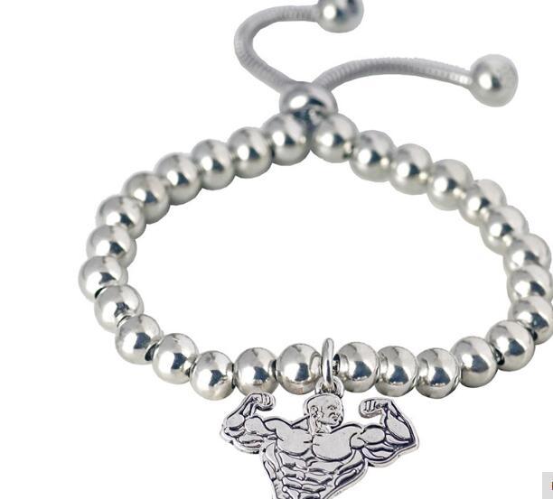 Herren Kugelarmband Armband Armreifen Bracelet Biker Mode Perlenarmband