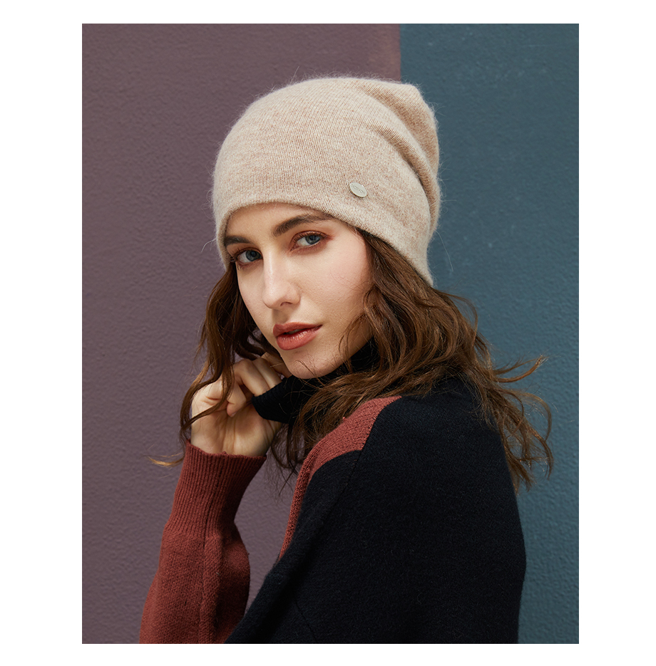 MOSNOW Female Beanies For Girls Cotton High Quality Hat Soft Fashion Accessory Winter New Headwear Brand Hats For Women3 (8)