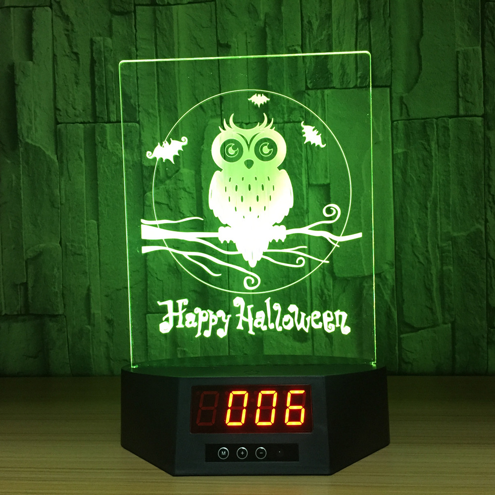 Animal Series Owl Touch and Remote Charging Stand with Calendar Acrylic Table Lamp 3D Graphic Decorative Lights Wholesale Dropshipping