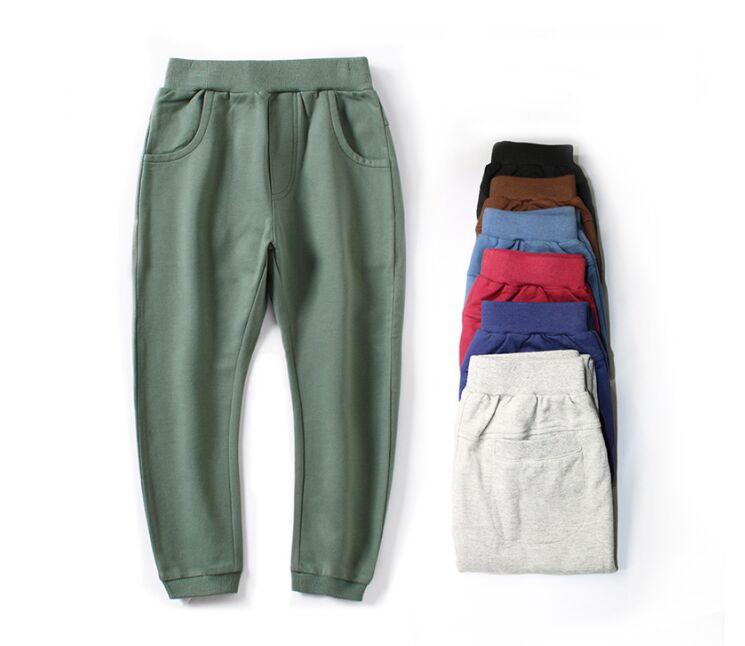 Boys Girls Winter Warm Corduroy Trousers Plush Velvet Pants