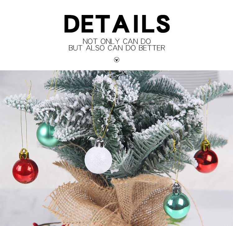08 inhoo 49pcs Christmas Tree Ornaments Polystyrene Plastic 3cm Decor Balls Baubles Xmas Party Hanging Ball for Home Gifts 2019