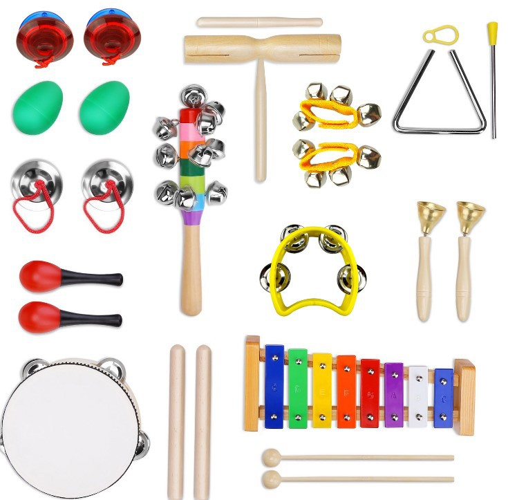 5Pcs Novelty Baby Kids Roll Drum Combination Set Musical Instruments Toy UK