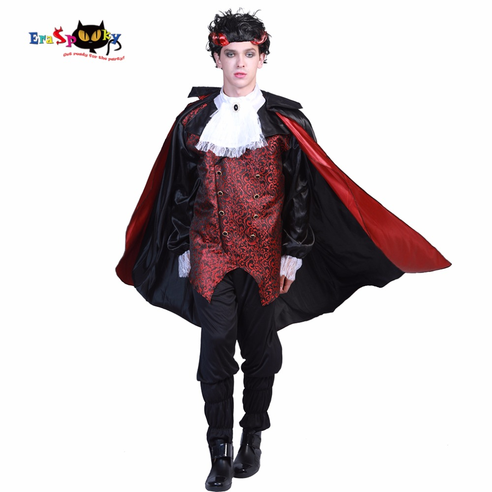 Adulto Uomo Gotico Vampiro Ali Di Pipistrello Costume Halloween Costume