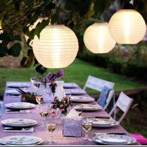 Weatherproof Solar LED Garden/Patio Chinese Lanterns