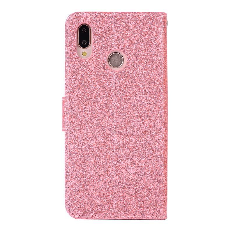 Case For Huawei P20 lite cover glitter Star diamond love flip wallet leather case For Huawei Nova 3e case silicon TPU back cover20