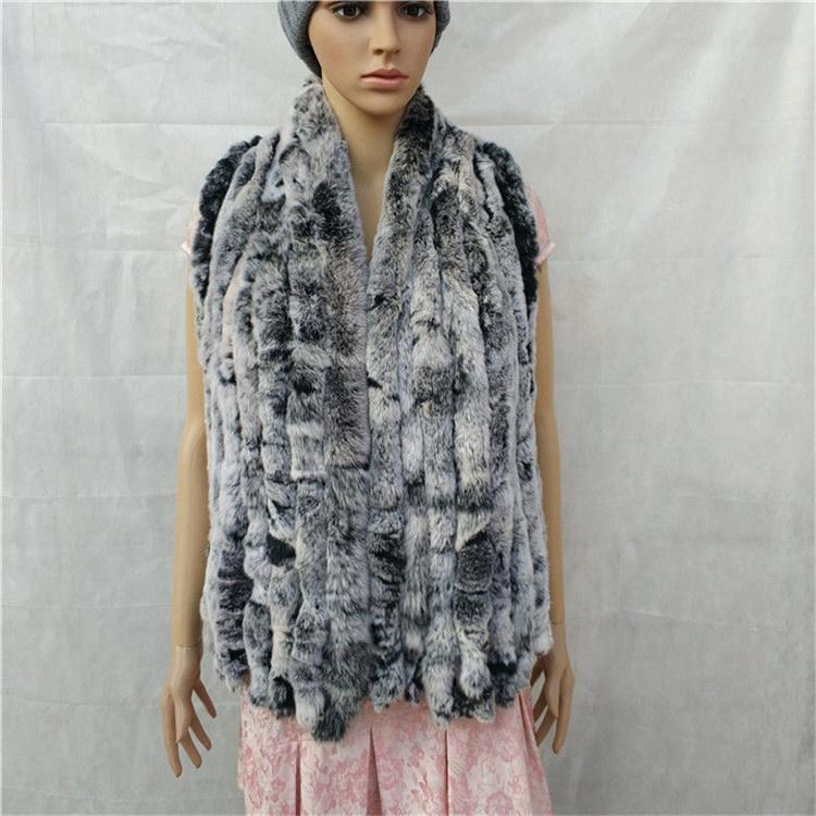 knitted rex rabbit fur scarf for women winter (13)