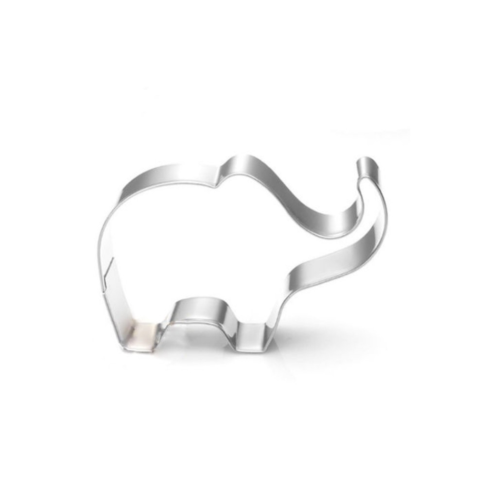 Cookie Mold Stainless Steel Elephant Shape Cake Fondant Mold Cookie Cutter Kitchen Accessories