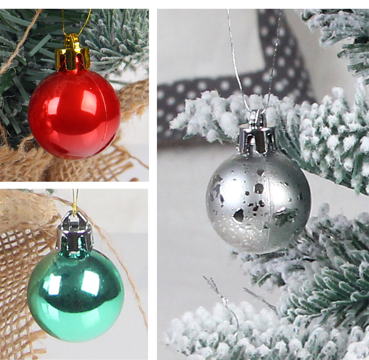 11 inhoo 49pcs Christmas Tree Ornaments Polystyrene Plastic 3cm Decor Balls Baubles Xmas Party Hanging Ball for Home Gifts 2019