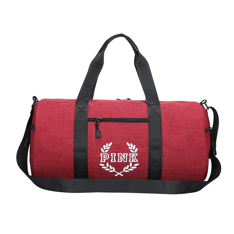 ... Wholesale Pink Letter Duffel Bags Women Men Handbags Large Capacity  Travel Duffle Bags Waterproof Beach Bag ... 3dd441132f