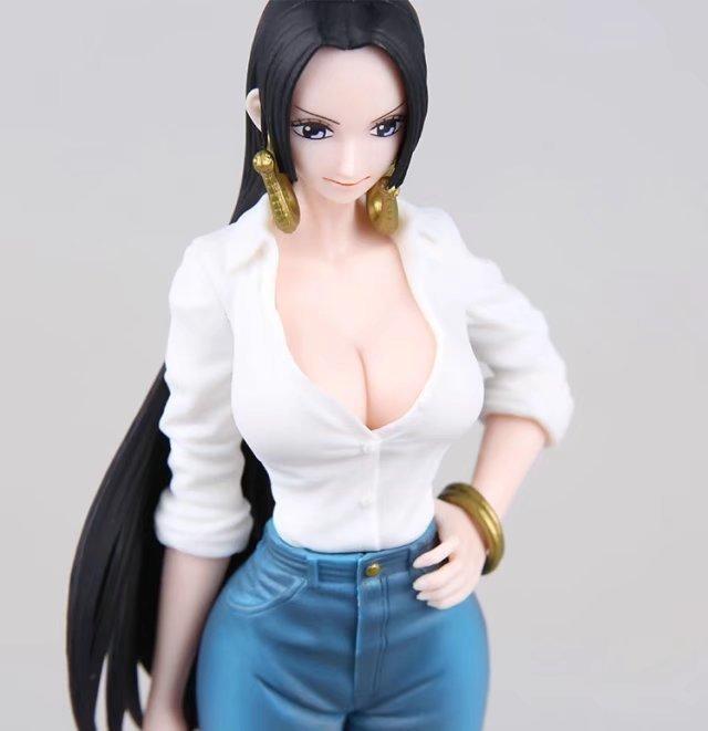 Action Figure One Piece Boa Hancock Jeans Style Cartoon Doll PVC 22cm Box-Packed Japanese Figurine World Anime 170803