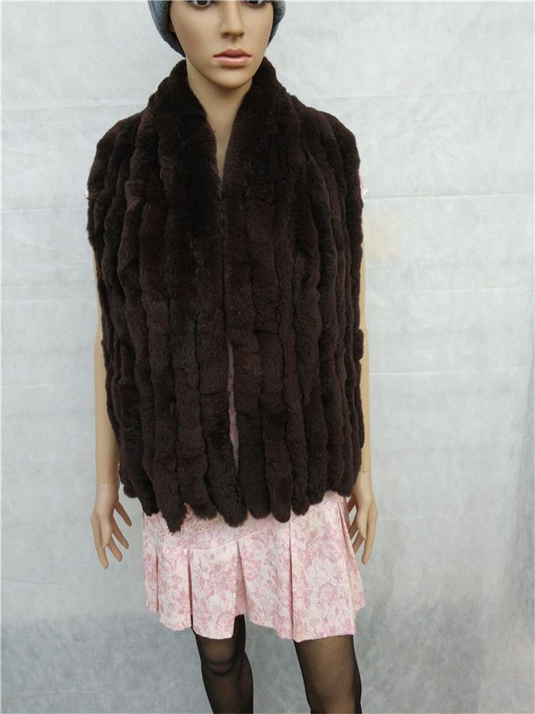 knitted rex rabbit fur scarf for women winter (21)