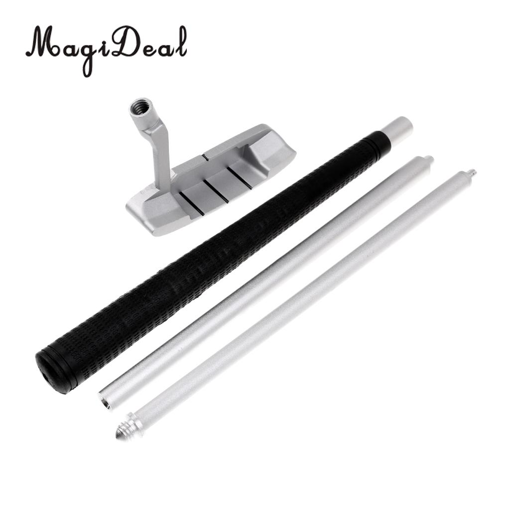 MagiDeal 3-Section Foldable Portable Right Handed Golf Putter Club Silver 35\` - Putting Practice