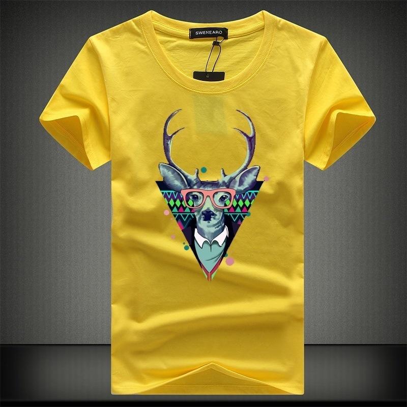 100% Algodão T-shirt Dos Homens Camisas de Manga Curta de Algodão O-Pescoço T-shirt Personalizado 3D Impresso T Shirt