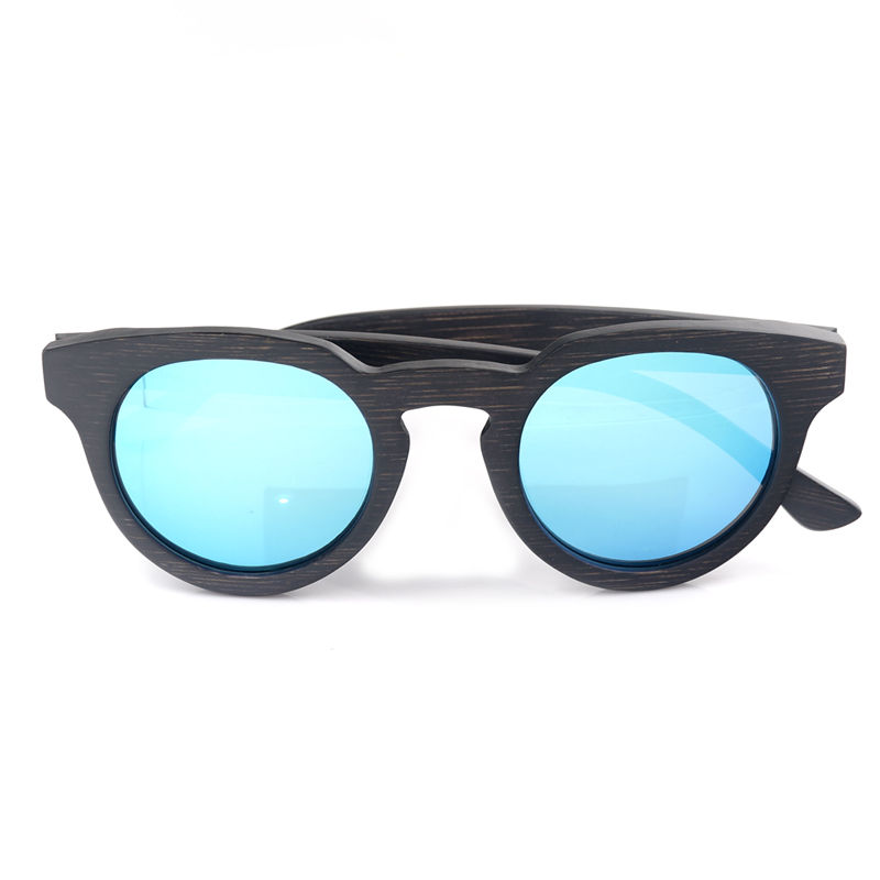 C-CAZ BG012d bamboo wooden sunglasses for women and mens Blue lens (13)
