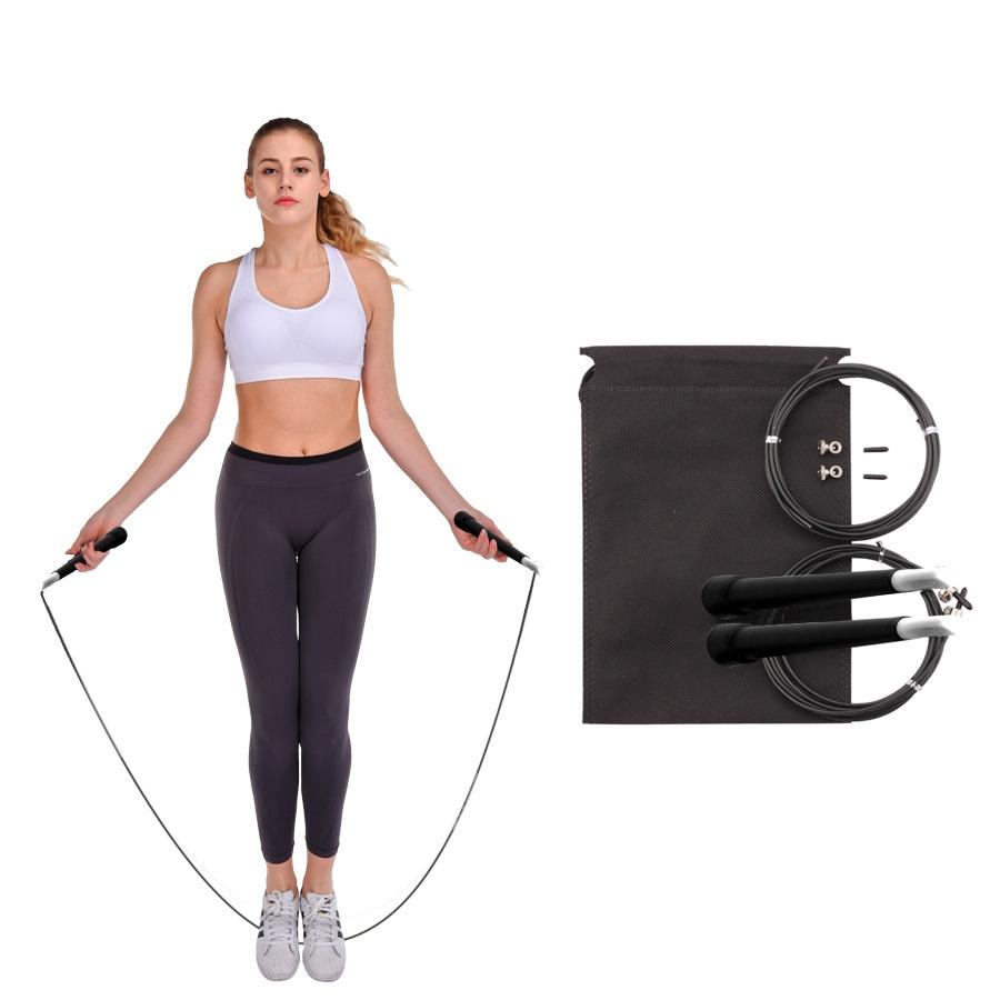 Corde à sauter corde fil Saut Vitesse Exercice Fitness Aérobic workout gym Orange