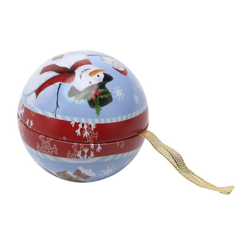 Boîte De Bonbons De Noël Père Noël Boule De Neige Motif Boîte De Boîte De Bonbons Boîte De Cadeaux De Noël Décoration pour la Maison Parti Fourniture Y18102909