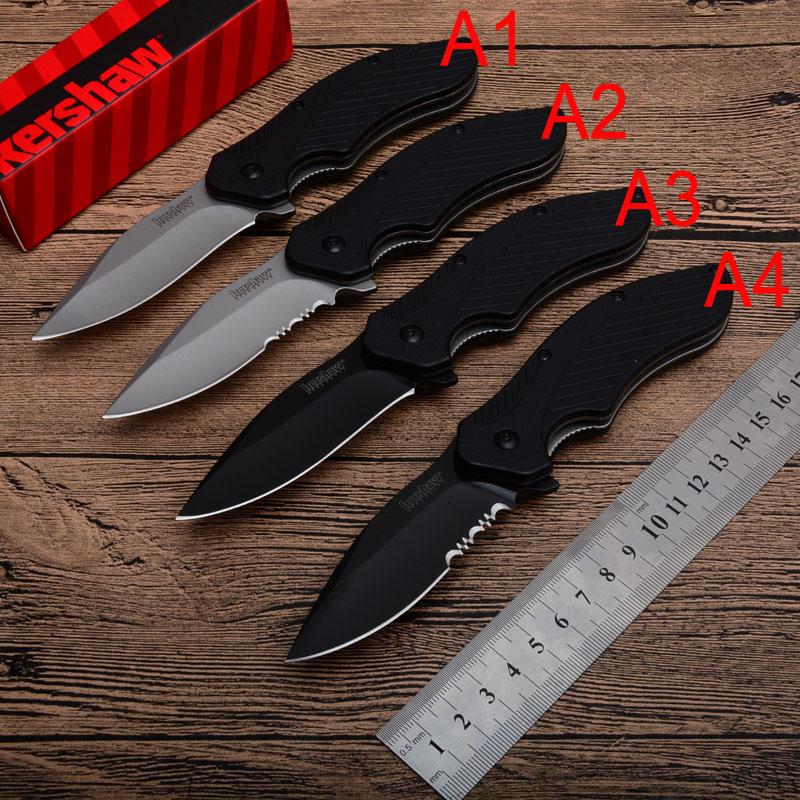 Kershaw 1605 Survival Taktik Bıçaklar 4 Stilleri 8CR13MON Blade Programı Flipper Katlanır Cep bıçak G10 Kolu 4.33 Inç Kapalı P591Q