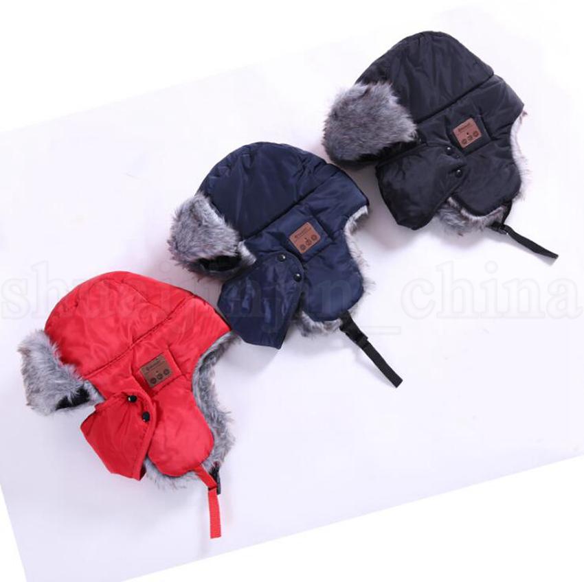 Bluetooth Trapper Hüte Warm Wireless Smart Cap Headset Anruf Musik Earflap Hut Headset Kopfhörer Lautsprecher Mützen Partyhüte OOA5688