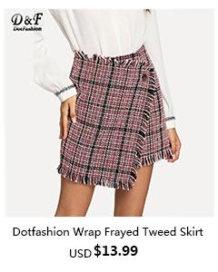 Fringe Button Asymmetric Wrap Frayed Tweed