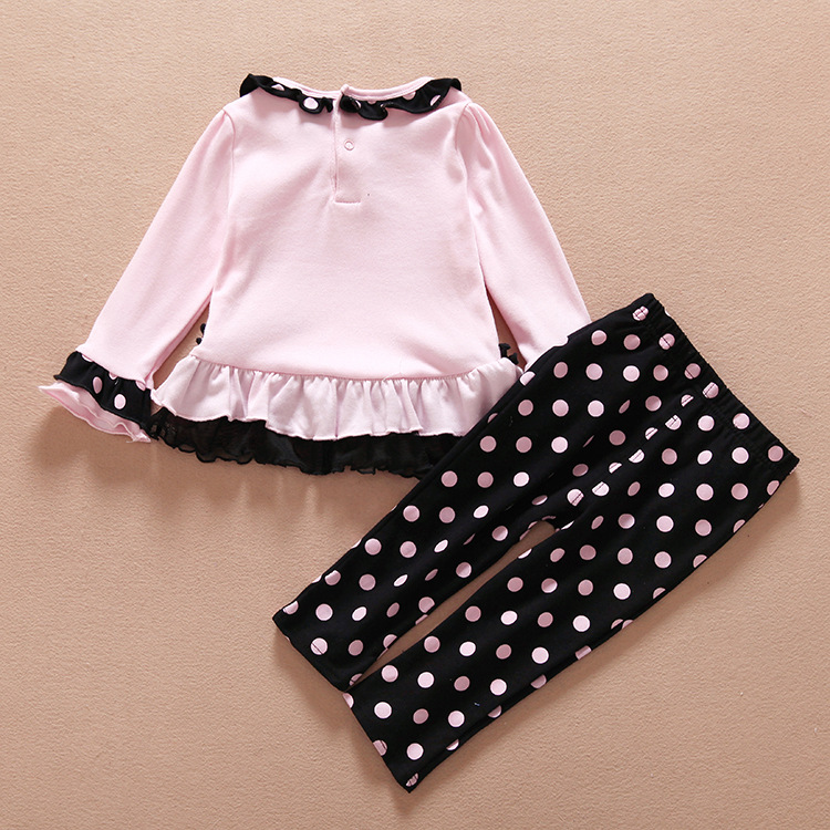Toddler baby Girls Clothing Kids Girl Cute Birdie T-shirt Top+Pants Trousers Clothing Set Outfit