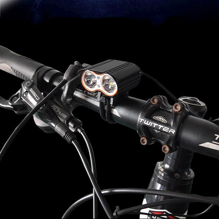 2000 Lumen Double T6 Bike Bicycle Cycling LED Light Flashlight High Brightness Lamp Front Light (1)