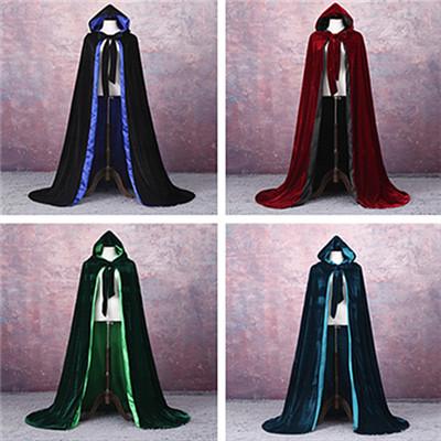 VELVET + LINED Cape Velvet Hooded Cloaks Costume Velvet Hooded Cloak Cape Medieval Pagan Witch Wicca Vampire Halloween Costume