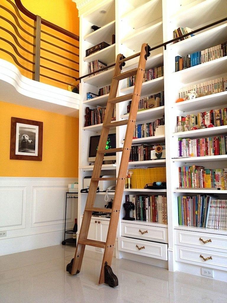 3.3ft 6.6ft Quiet Glide Rolling Library Ladder Sliding Barn Ladder Hardware Full Set Hardware