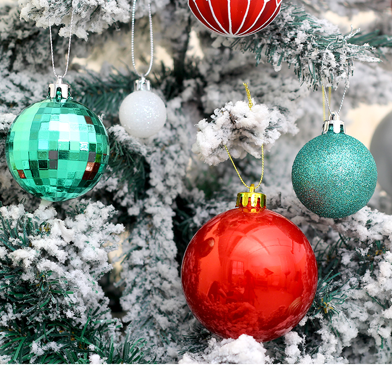 07 inhoo 50pcs Christmas ball Decorations for home Christmas Tree Decoration Ball Ornaments Pendant Accessories Xmas Gifts 2019 new