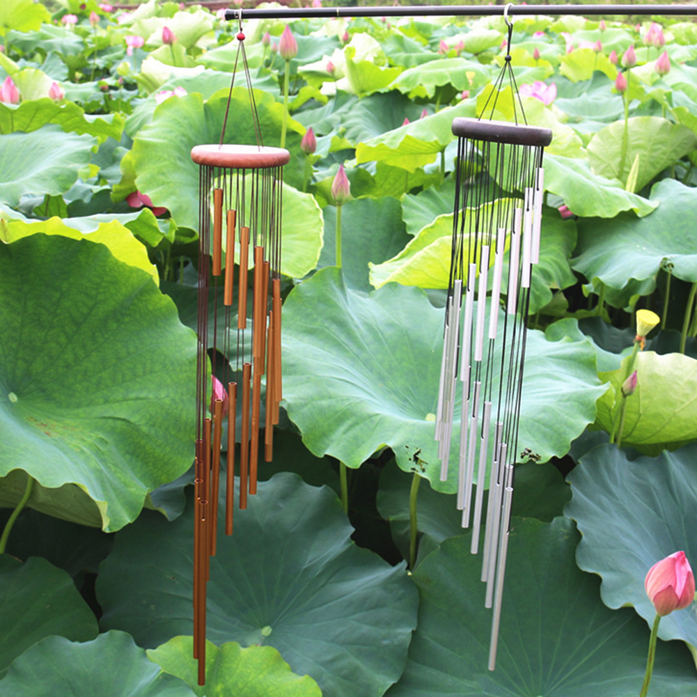 18 Tubes Wind Chime Yard Garden Outdoor Living Wind Chimes Decor Gift \CA