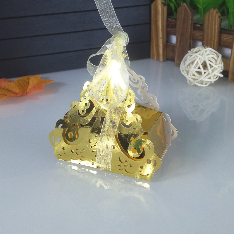 laser cut Christmas gift box Christmas tree shape wedding candy box party supplies baby shower 5ZT65