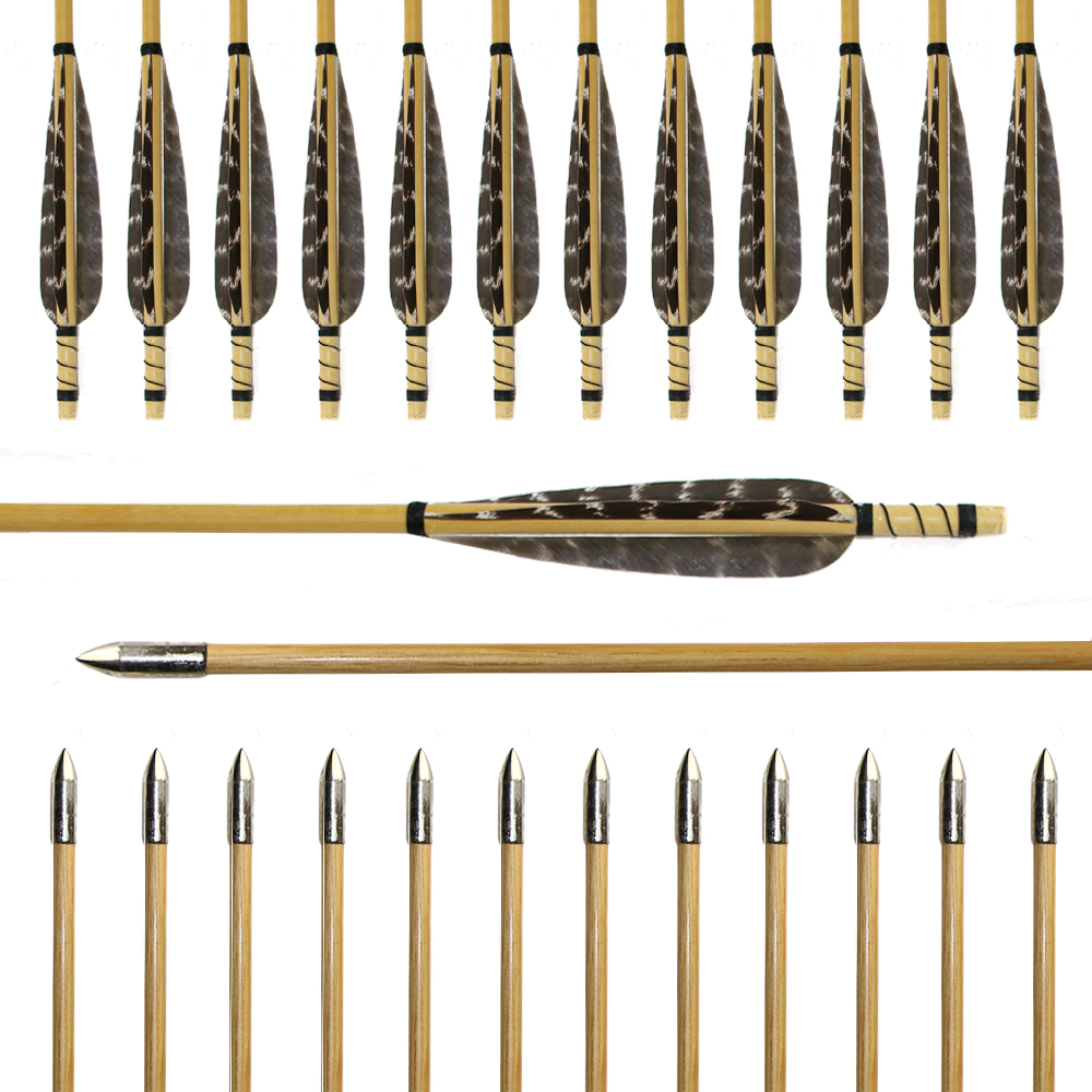 """7.8/"""" Archery Natural Turkey Feather Fletching Full Length  Hunting Practicing"""