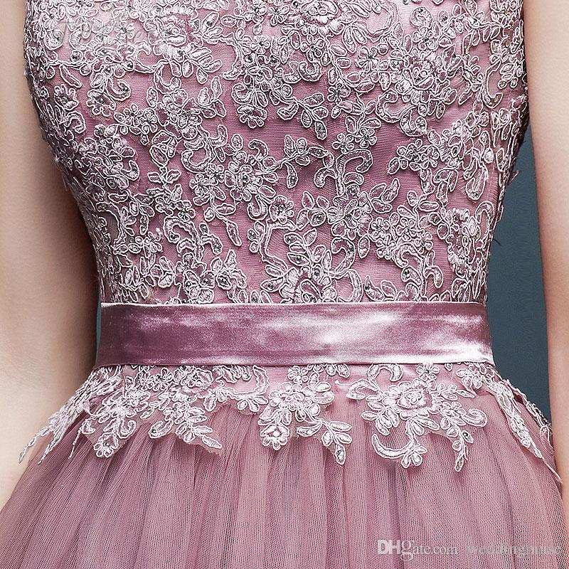 2017 Lace-up Prom Dresses Party Evening Light Purple Custom Made V-Neck Lace Prom Dress Crystals Flowers Tulle Lace Long Prom Dresses AL7213
