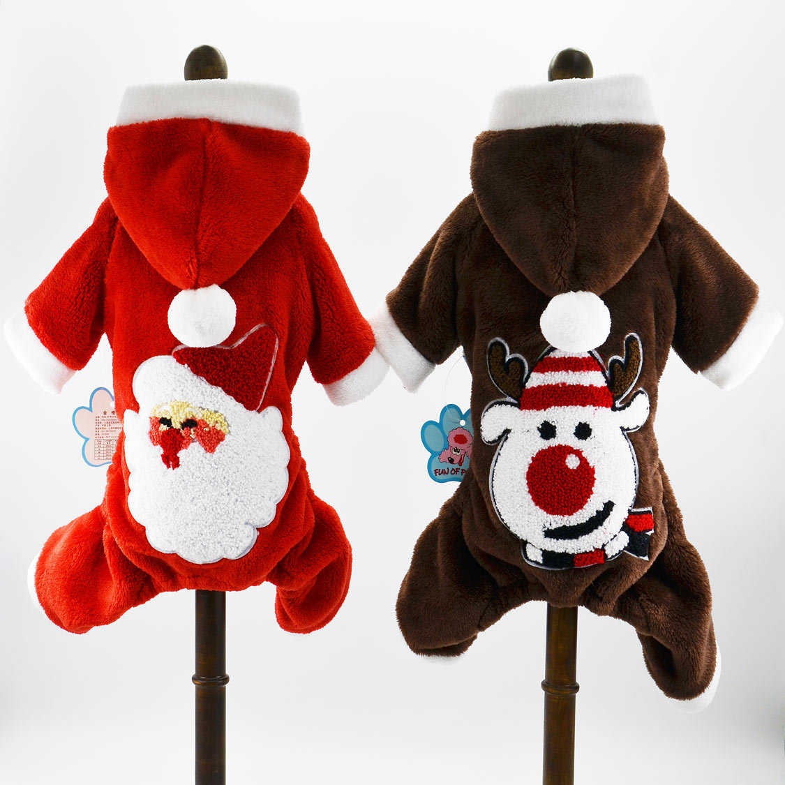 Pets Clothing Christmas Dog Clothes Santa Claus Coral Fleece Coat for Cat and Dog Like Teddy Small and Medium-sized Dog