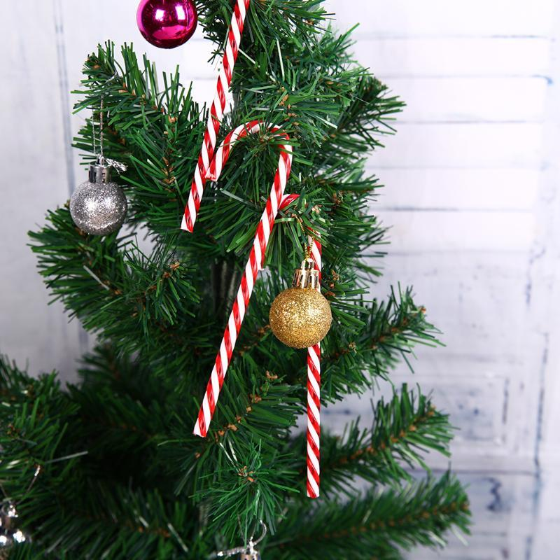 plastic Candy Crutches Christmas Tree Decor Gifts Hanging Ornaments Pendants Navidad christmas decorations for home Y18102609