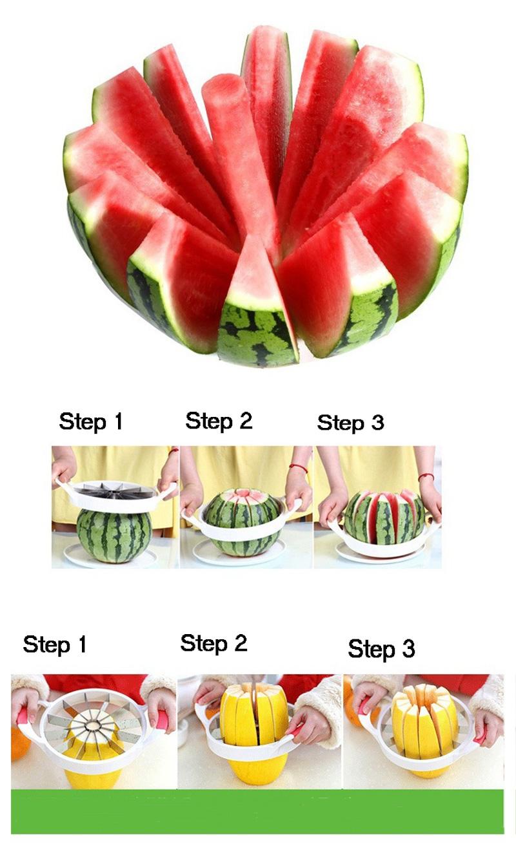 Kitchen gadgets 2018 Summer Stainless Steel Watermelon Sliced cutter knife fruit Slicer Salad Making tools kitchen accessories (15)