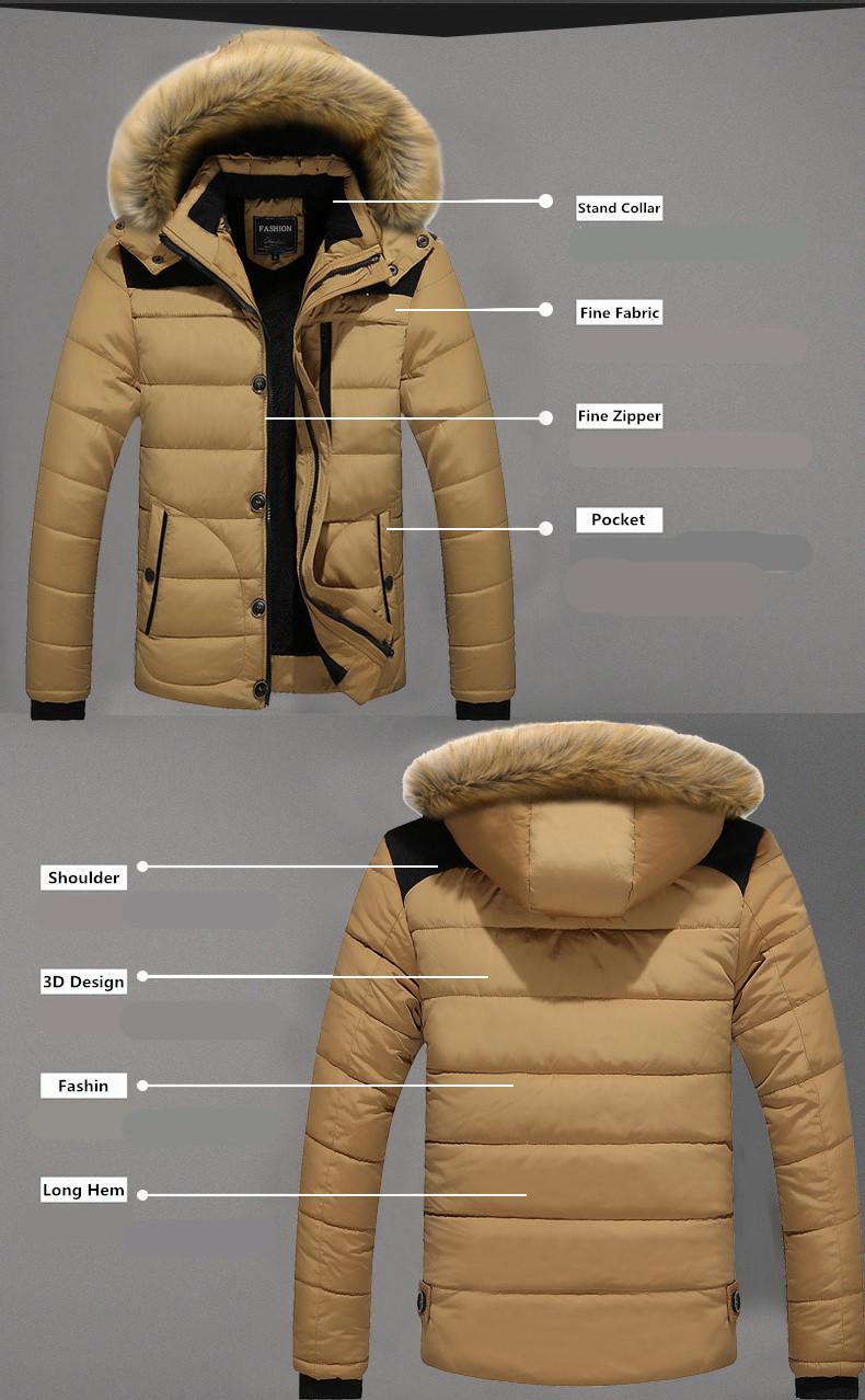 W102 2016 Mens Winter Jackets Coats Outwear Warm Down Jacket Thick Outdoor Hoodie Fox Fur Men\`s Parka Plus Size 4XL Famous Brand (7)