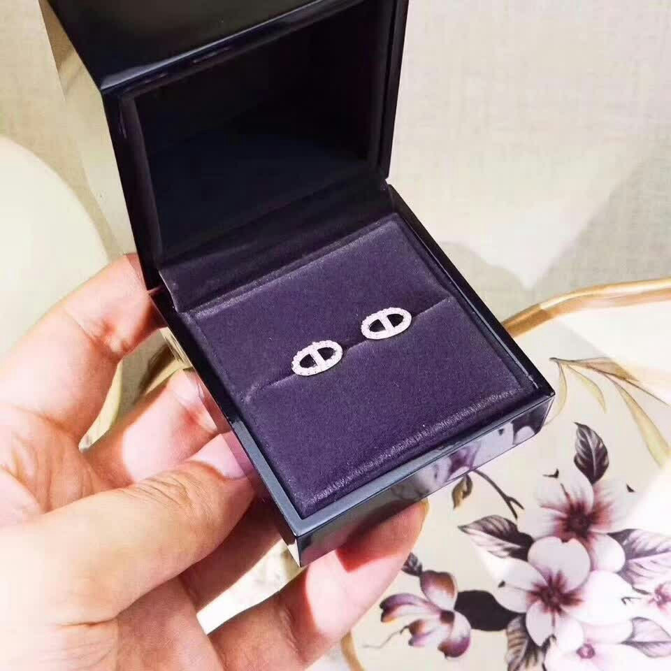 2018 new ladies pig nose earrings Stud exquisite high-end 925 sterling silver, elegant and noble