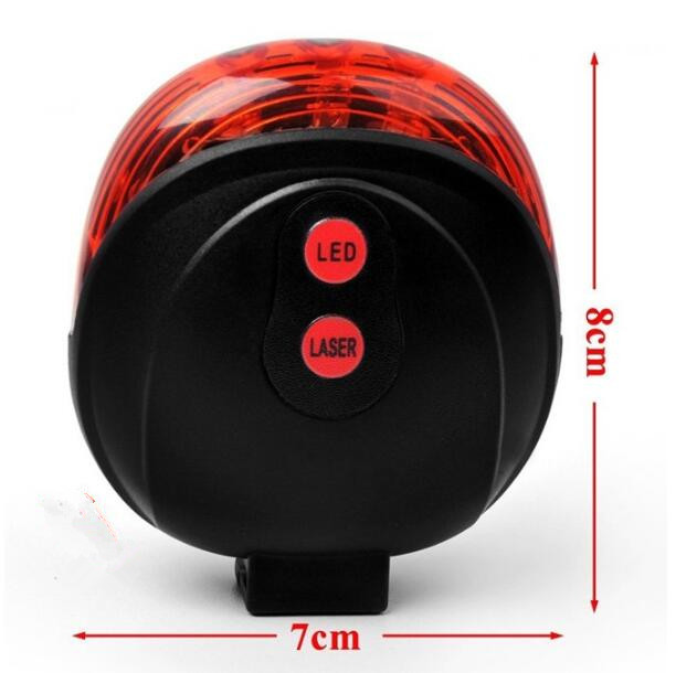 Rückfahrrad Fahrradlichter Wasserdicht 5 LED 2 Laser 3 Modi Fahrrad Rücklicht Sicherheitswarnlicht Fahrrad Hinten Fahrradlicht Rücklicht