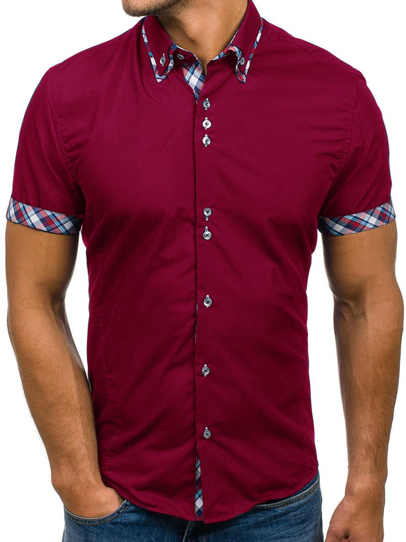 2021 Brand Men Clothing Fashion Shirt Male Dress Shirts Slim Fit ...