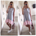 862f64829da Summer Dresses 2018 Casual Loose Patchwork Sleeveless Ruffles O-Neck  Straight Dress Fashion Women Dress Ukraine VestidosUSD 5.31-9.73 piece