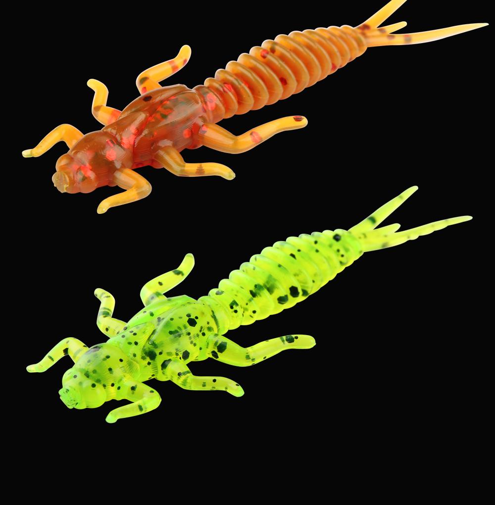RoseWood Larva Soft Lure 1.4g 6cm Swimbait Worm Fishing Bait Isca Artificial Lifelike Dragonfly Jigging Fishing Tackle China (1)