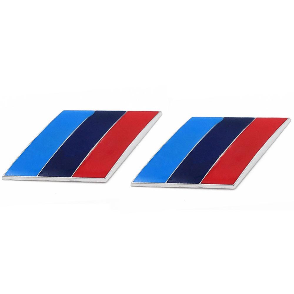 /Pair 3D Metal Tricolor Car Body Side Fender Rear Trunk Emblem Badge for ALL Models BMW X1 X3 X5 X6 1 3 5 6 7 Series
