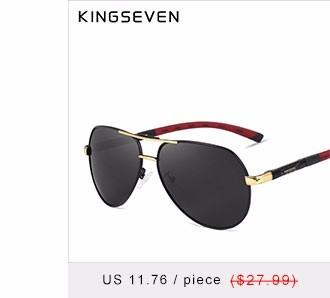 322a98ed445ed KINGSEVEN Marca Designer Homens   039  s De Alumínio E Magnésio Óculos De Sol  Espelho Polarizado lente Masculina Óculos De Sol Para Homens gafas