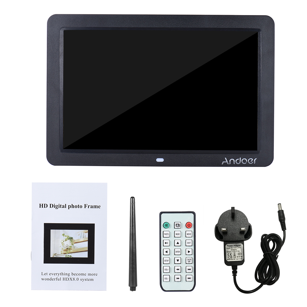 """wholesale Digital Photo 12"""" Wide HD Frame Electronic LED Digital Picture Frame Album with Remote Control MP3 MP4 Vedio Movie Player"""