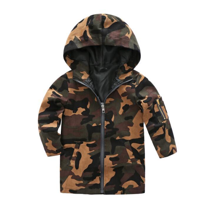 Infant Girls Boy Camouflage Coat Cloak Jacket Spring Camo Wind Autumn Outwear US