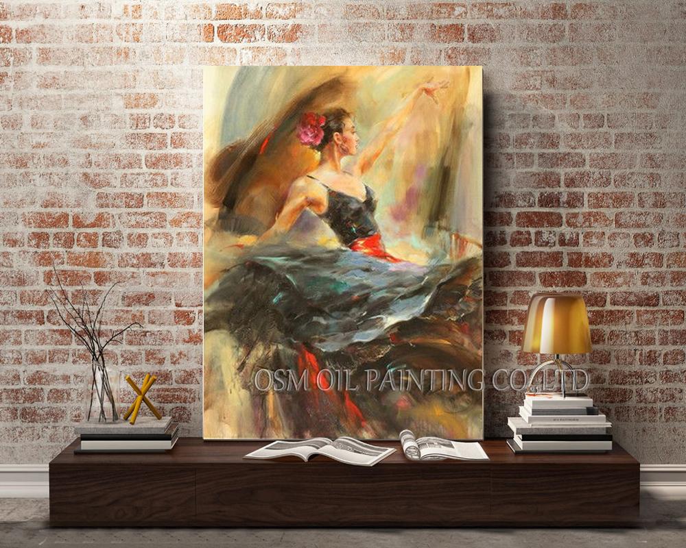 spanish dancer oil painting