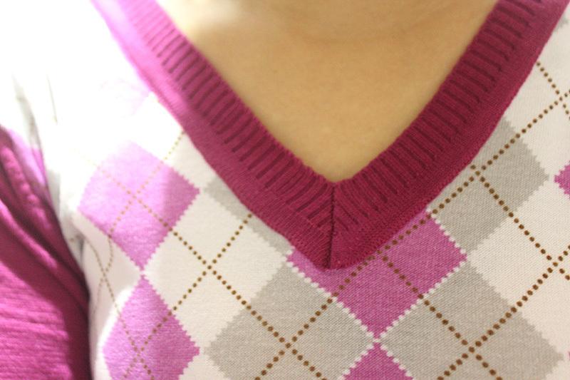 Großhandel Herbst England Art Pullover Strickjacke Damen Jacquardmuster Strickjacke V Ansatz Raute Plaid Muster Stricken Langärmeligen Strickjacke