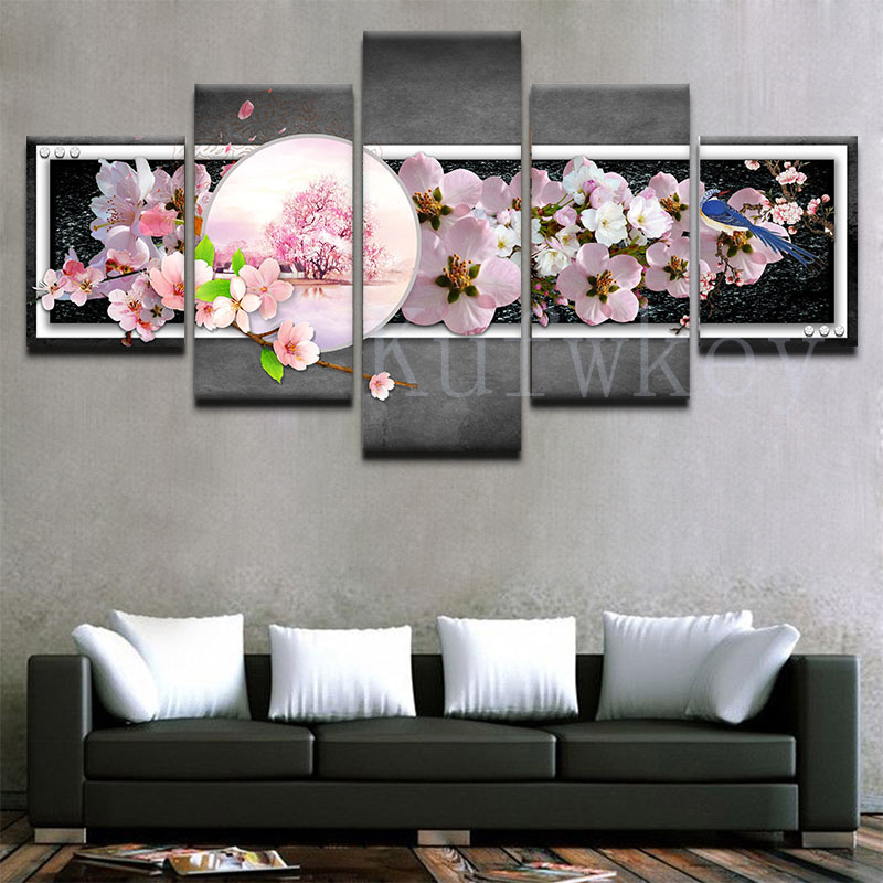 Canvas-Painting-Wall-Art-Home-Decor-For-Living-Room-HD-Prints-5-Pieces-Bird-Flower-Modular (1)
